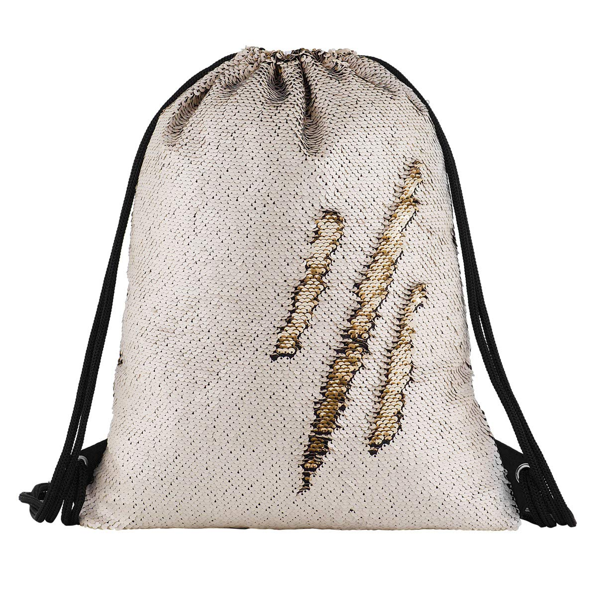 Sequin Drawstring Backpack Bag Mermaid Gym Dance Bags Magic Reversible Glitter Bag Unicorn Gift for Girls Daughter Boy Flip Sequin School Bag Birthday Gift for Kids Teen Women Segorts