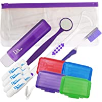 Braces Starter Kit ~ Orthodontic Toothbrushes, Wax & More (Purple)