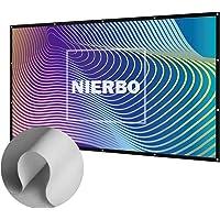 Beamer-Leinwand in Heimkino, NIERBO 120 Zoll Beamer Leinwand für Heimkino LCD LED DLP Beamer Leinwand 16 9 3D Full HD | 273x157cm