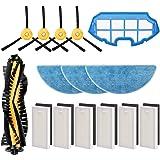 morpilot Kit de Accesorios para Conga Excellence y Conga 990 Excellence, Recambios con 4 Cepillos Laterales, 3 Mopas, 6…