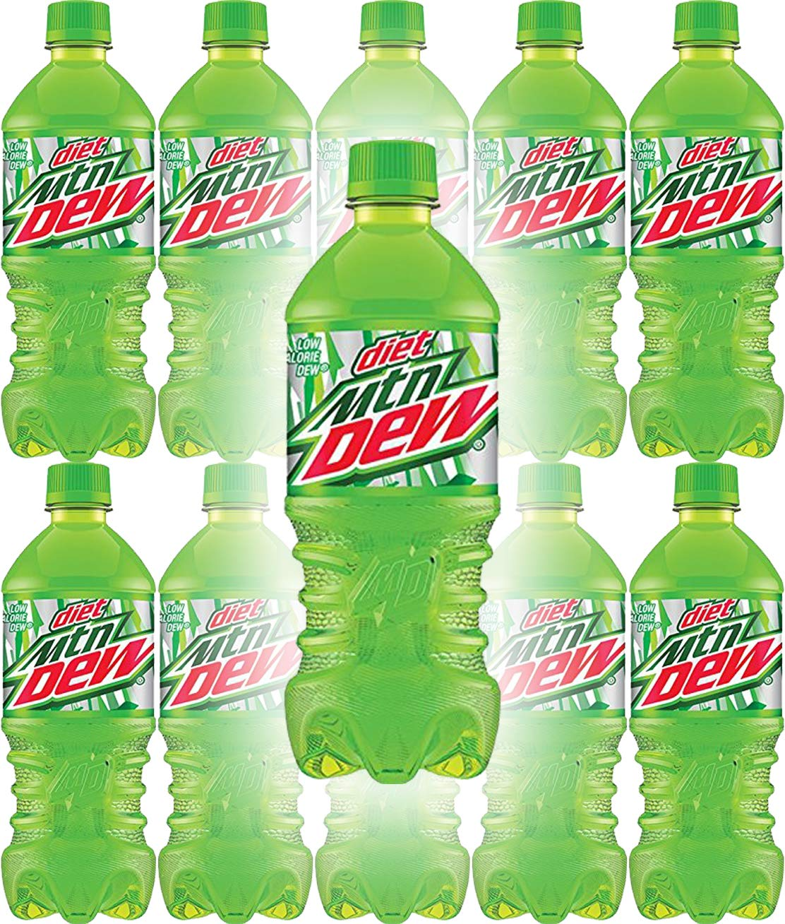 Diet Mountain Dew, 20oz Bottle (Pack of 10, Total of 200 Fl Oz)