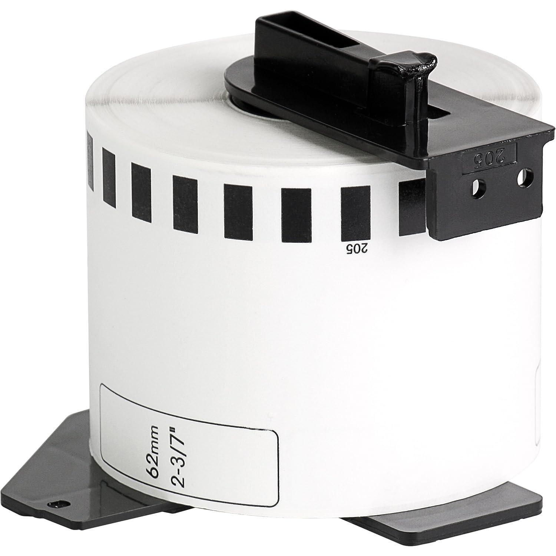1x compatible Etiquetas continuas DK22205 blanco para Brother impresora de etiqueta QL1050 / QL1060 / QL500, QL550, QL560, QL570, QL580, QL650, QL700, ...