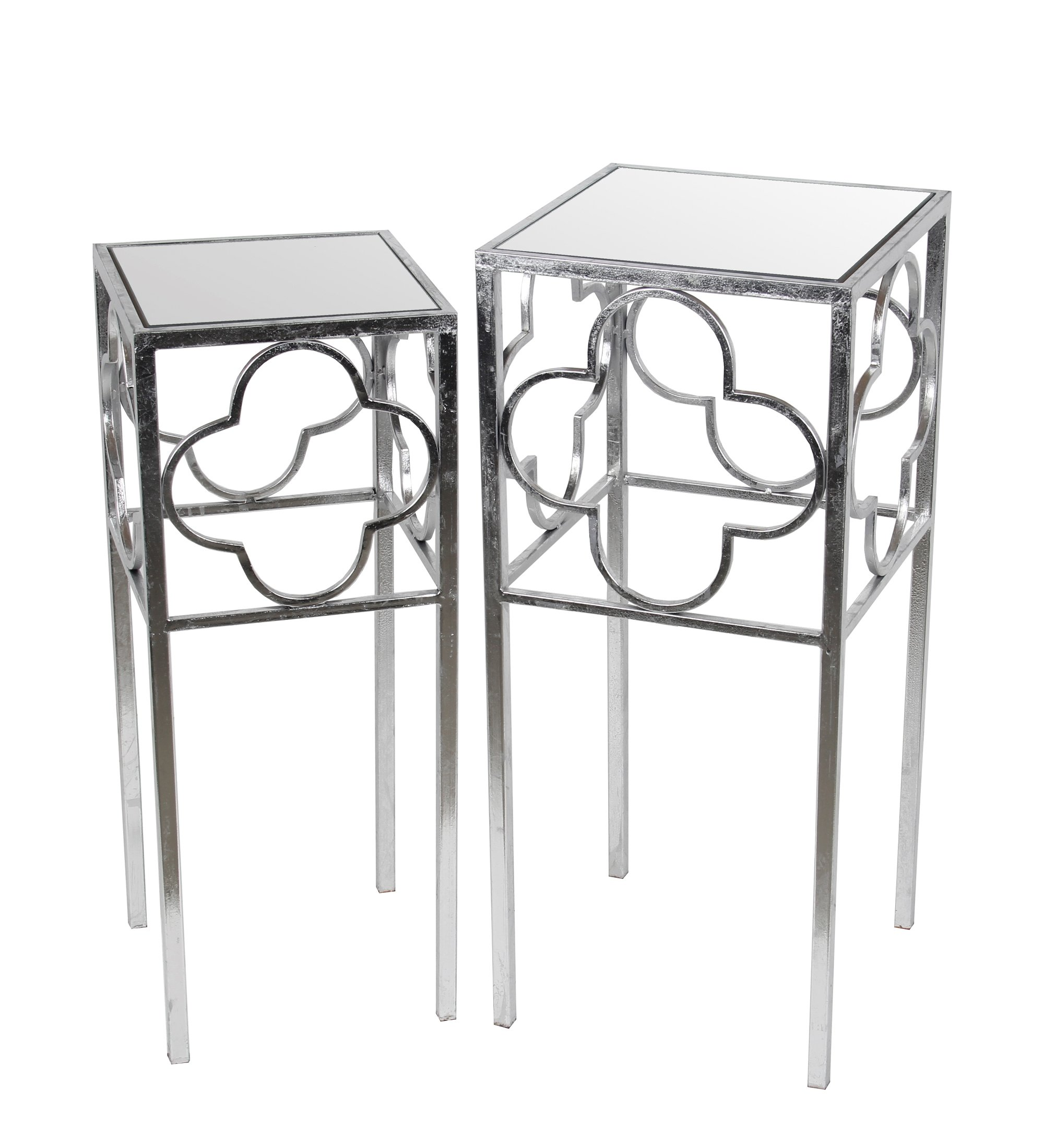 Privilege 18979 2 Piece Acct Leaf Table, Silver