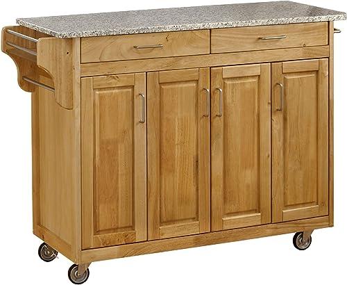 Create-a-Cart Natural 4 Door Cabinet Kitchen Cart
