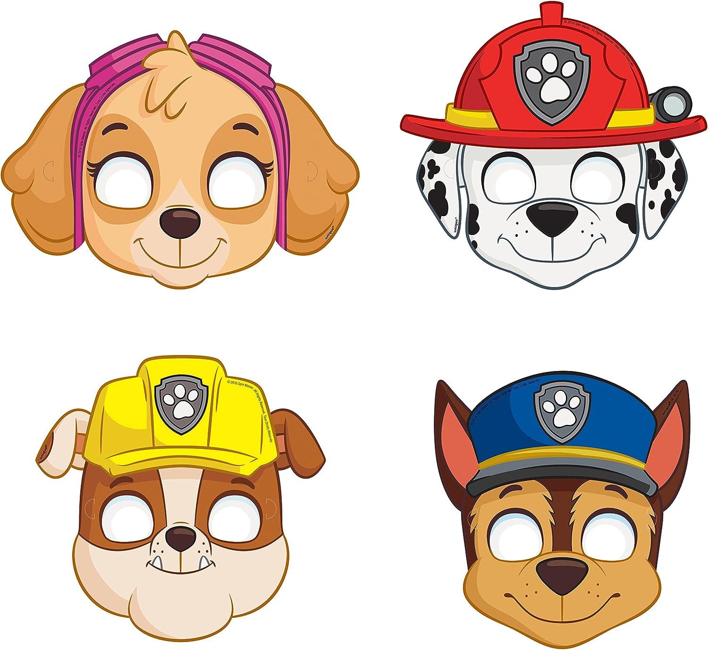 Paw Patrol Party Masks [8 per Package]: Amazon.es: Juguetes y juegos