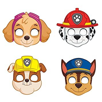 Paw Patrol Party Masks Assorted 8ct Amazon In Toys Games