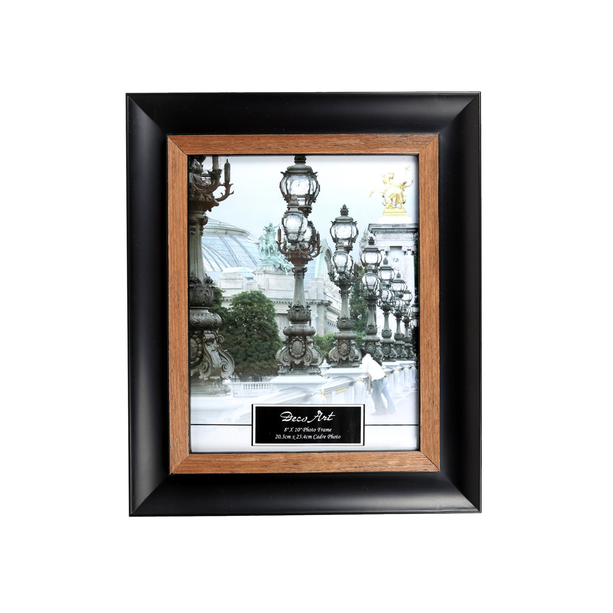 Truu Design Picture Frame, 8 x 10 inches Black, Beige
