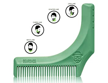 Review BeardAce – Beard Shaping Tool– Multi-Function Beard Comb and Beard Shaper Tool – Perfect for Edging, Mustache Grooming and Hair Cuts – Beard Maintenance Device for All Beard Styles