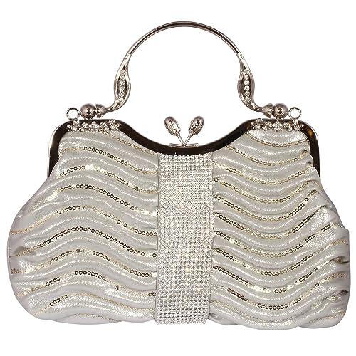 13ae9c759f Digabi Sequins Overlay c Evening Handbags women Crystal Evening Clutch Bags  (One Size   10.5
