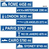 Travel Street Sign Cutouts   (4/Pkg)