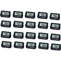 LEMONADE Digital LCD Alarm Table Desk Car Calendar Clock Timer Stopwatch -Pack of 20