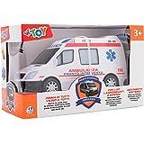 W'TOY Ambulanza B/O Movimento Mistero Luci Suoni, Multicolore, 38188