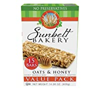 Deals on 15-Ct Sunbelt Bakery Oats and Honey Chewy Granola Bars Pack