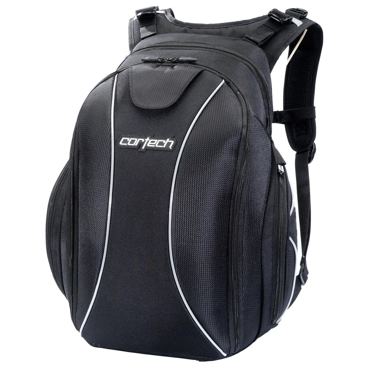 Cortech Super 2.0 Backpack with Built In Helmet Strap Black