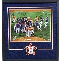 $349 » Jose Altuve Houston Astros MULTI SIGNED (9 signatures) Signed Autograph Custom Framed 16x20 Photo Suede Matted JSA Tristar Authentic…