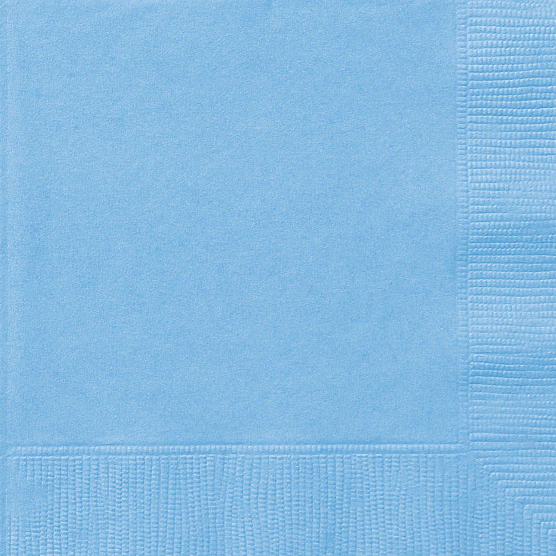 Light Blue Paper Napkins, 20ct