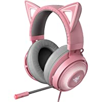 Razer Kraken Kitty Chroma USB Gaming Headset: Retractable Noise Cancelling Mic - Lightweight Aluminum Frame - for PC…