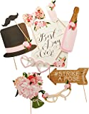 Ginger Ray Vintage Style Mariage Photo Booth Props-10Lot