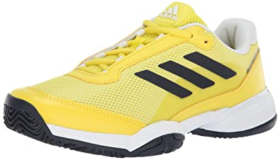 21a2eb30e26 adidas Unisex Barricade Club Tennis Shoe, Shock Yellow/Legend Ink/White, 1.5