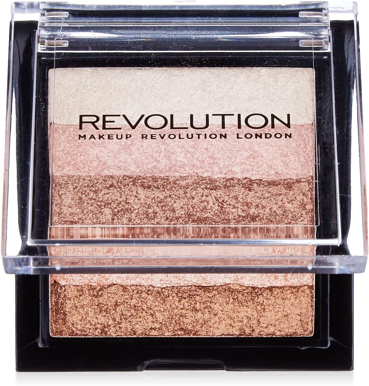 Makeup Revolution Vivid Shimmer Brick Bronzer Highlighter, Radiant