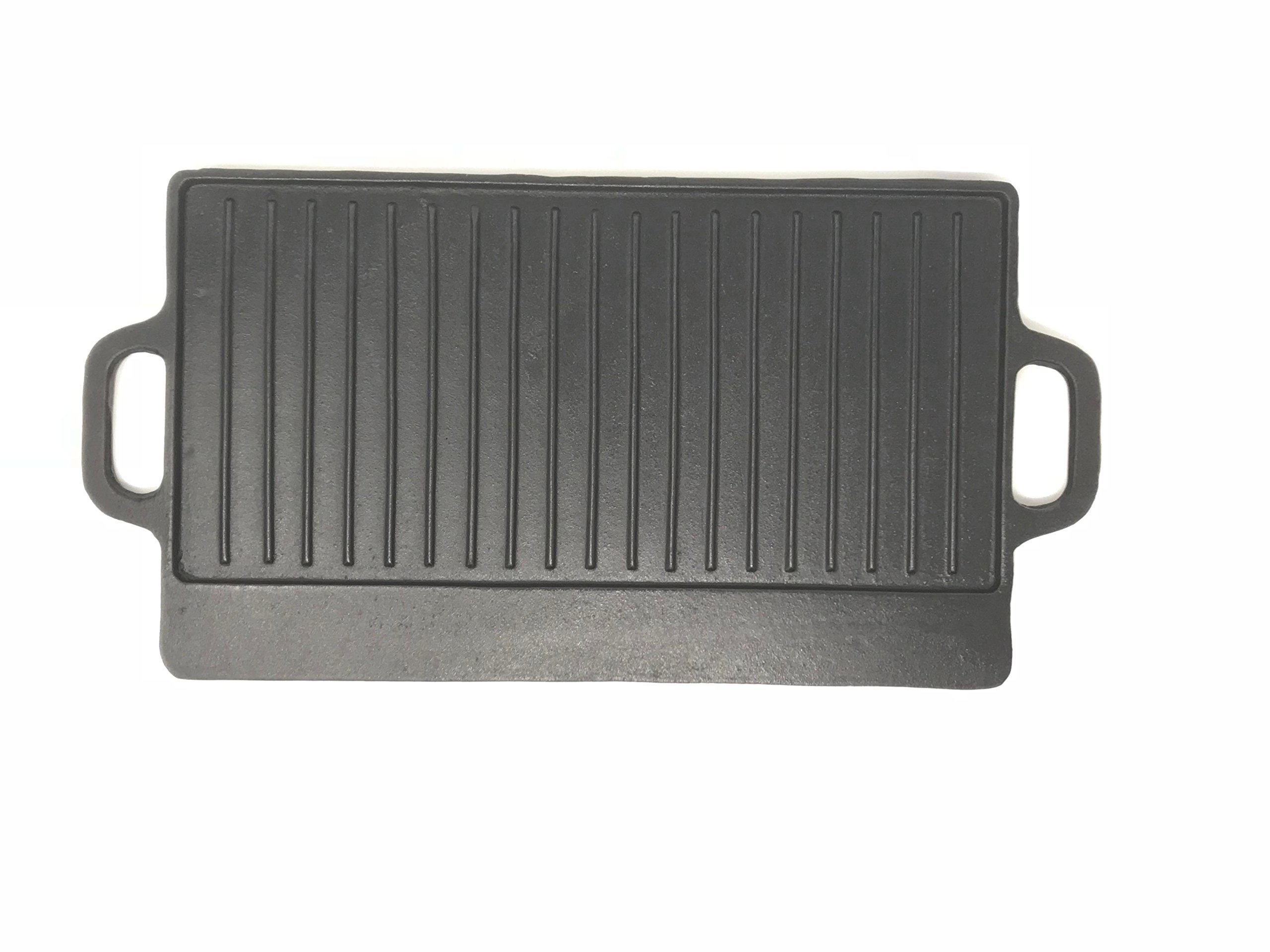 Aura Outdoor Products Rectangle Cast Iron Griddle - Perfect for Gas Grills and Stove Tops by Aura Outdoor Products