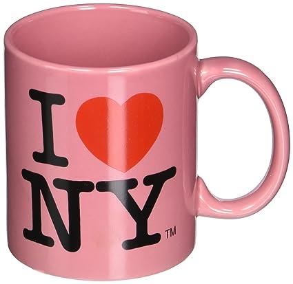 Amazon official pink i love ny 11oz ceramic mug from new york official pink i love ny 11oz ceramic mug from new york mugs souvenir and gift store thecheapjerseys Images
