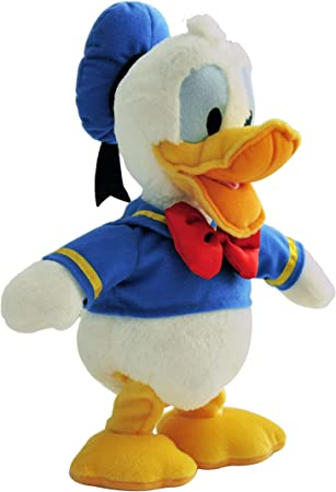 Feature Pl Disney Plush - B/O Laughing and Dancing Donald 12-inch, Multi Color