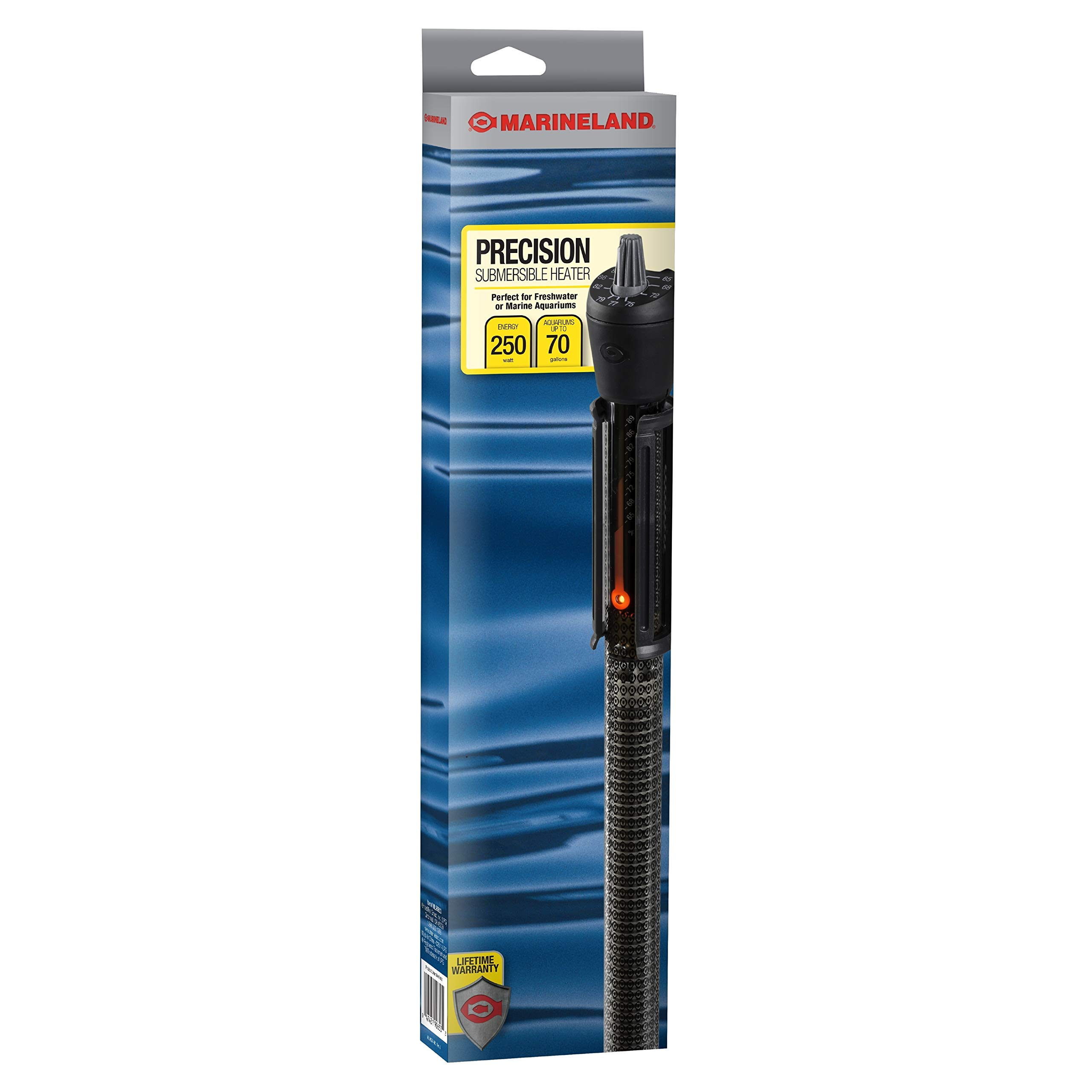 MarineLand Precision Submersible Heater, for Freshwater or Saltwater Aquariums by MarineLand