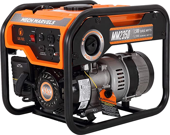 Mech Marvels 1500 Watt Portable Power Generator, Carb Compliant MM2350