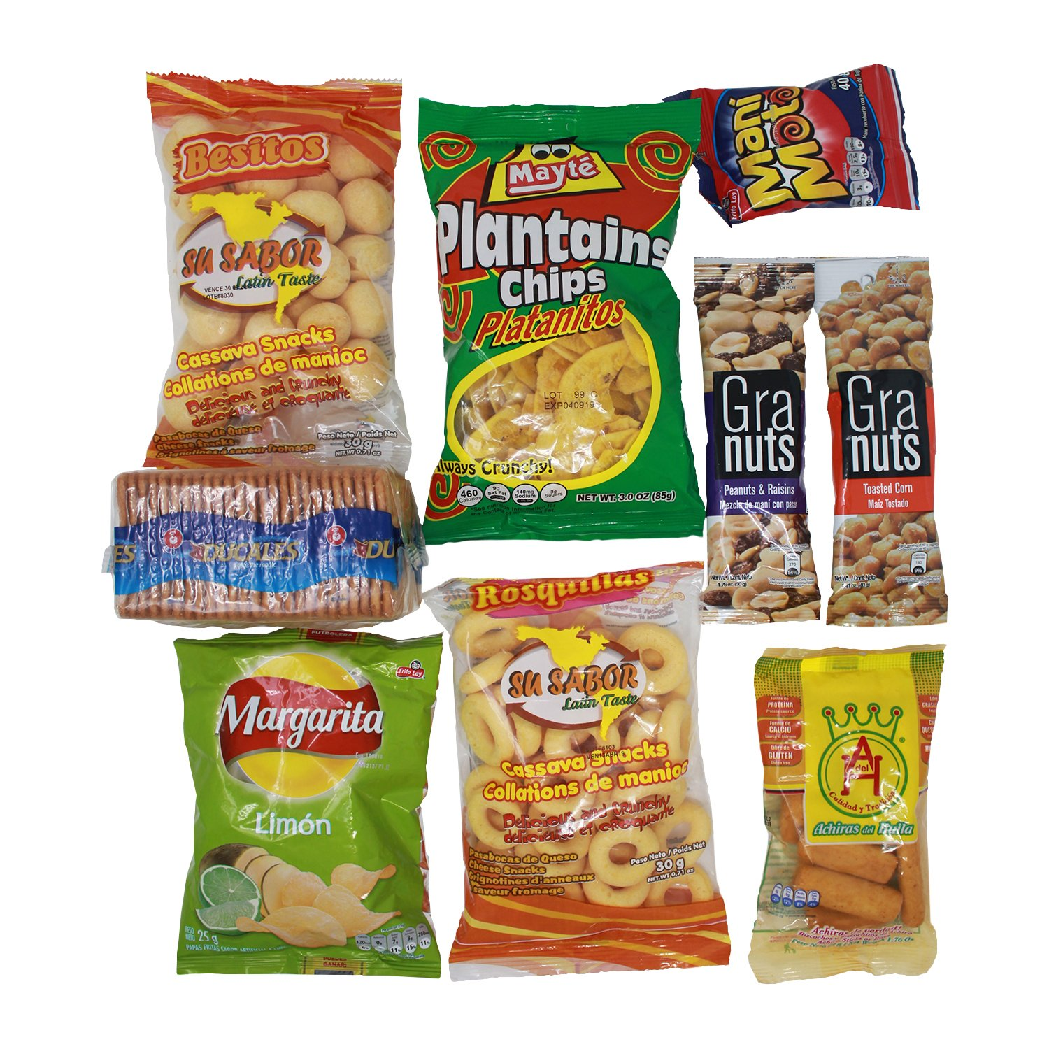Colombian Snacks Sampler Box | Mecato Colombiano | Cookies, Chips & Candies Variety Pack | Snack Assortment Delight | 40 count / 25 different items | ...