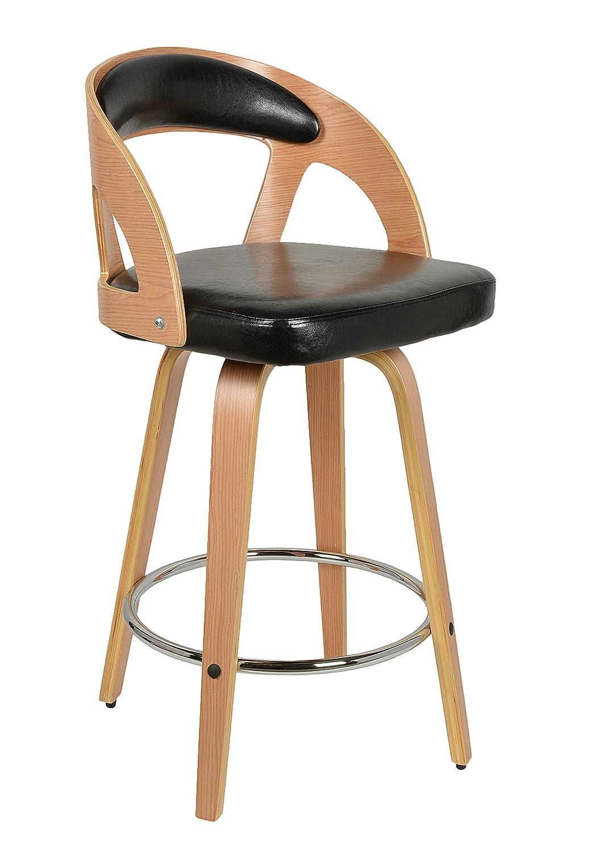 Ts Ideen 1 X Barhocker Retro Design Chill Lounge Bar Sessel Stuhl Holz  Glanz Schwarz: Amazon.de: Küche U0026 Haushalt