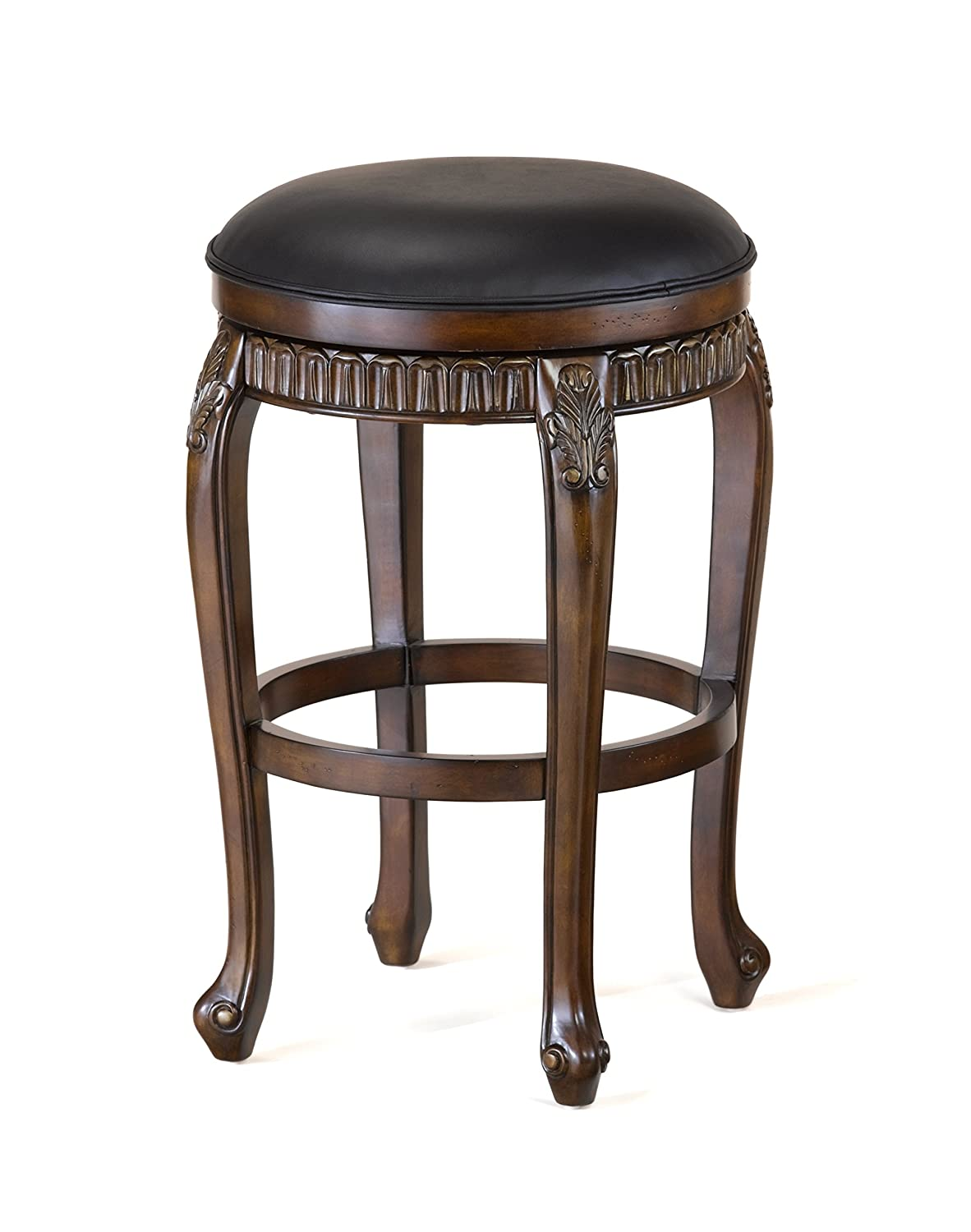 Wondrous Hillsdale Fleur De Lis Backless Swivel Bar Stool 30 Distressed Cherry With Copper Highlights Ibusinesslaw Wood Chair Design Ideas Ibusinesslaworg
