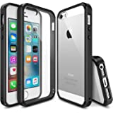 iPhone SE / 5S / 5 Case, Ringke [FUSION] Crystal Clear PC Back TPU Bumper [Drop Protection/Shock Absorption Technology] for Apple iPhone SE (2016) / 5S (2013) / 5 (2012) - Black