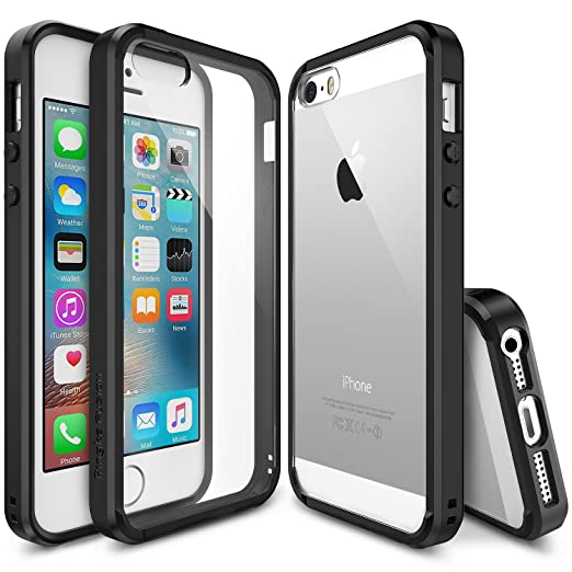 169 opinioni per Custodia iPhone SE / 5S / 5, Ringke [FUSION] Assorbimento urti TPU Goccia