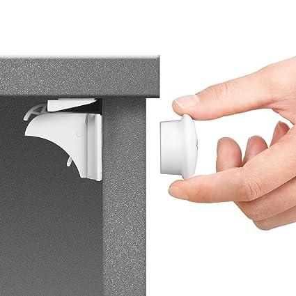 Jambini Magnetic Cabinet Locks Child Safety Locks 8 Locks