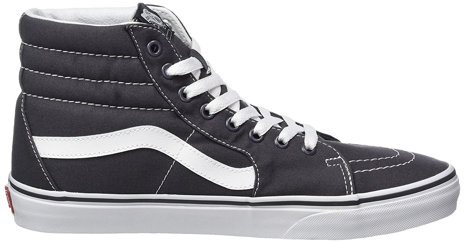 Vans Sk8-Hi Unisex Casual High-Top Skate Shoes, Comfortable and Durable in Signature Waffle Rubber Sole B01DTFDYUA 11.5 B(M) US Women / 10 D(M) US Men|Asphalt