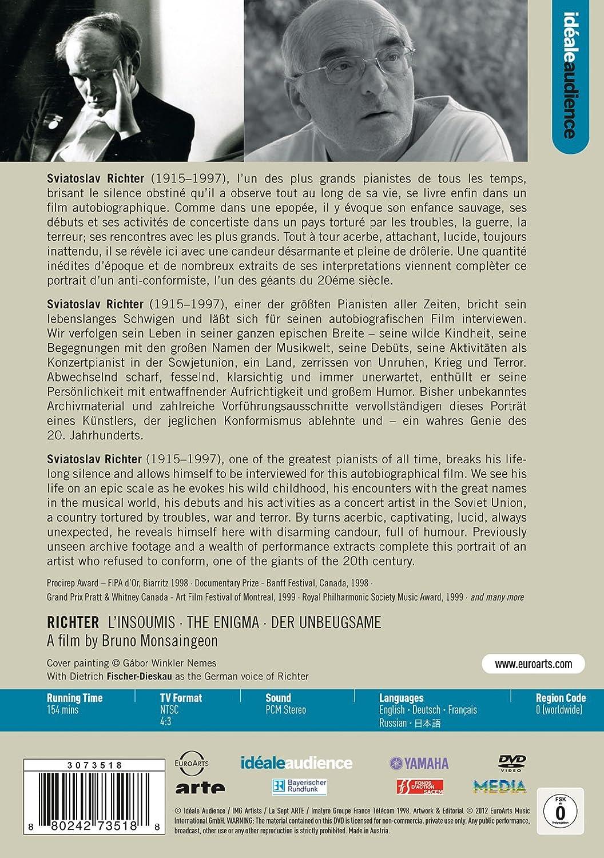 Richter - LInsoumis - Der Unbeugsame Reino Unido DVD: Amazon.es: RICHTER SVIATOSLAV (piano), Autori vari: Cine y Series TV