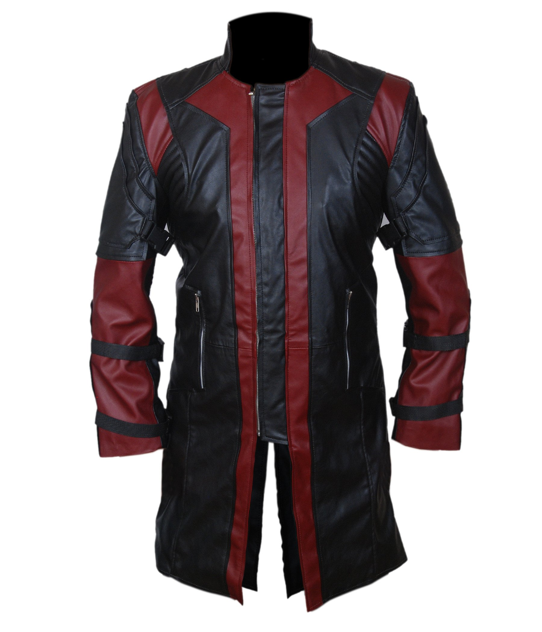 F&H Boy's 2015 Avengers Age of Ultron Hawkeye Genuine Leather Coat XXS Black