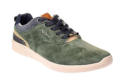 20e4838dce1 Pepe Jeans Jayden 2.1 Essentials Baskets Kaki  Amazon.fr  Chaussures et Sacs
