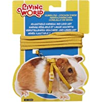 Living World Adjustable Harness and Lead Set for Guinea Pig, Yellow