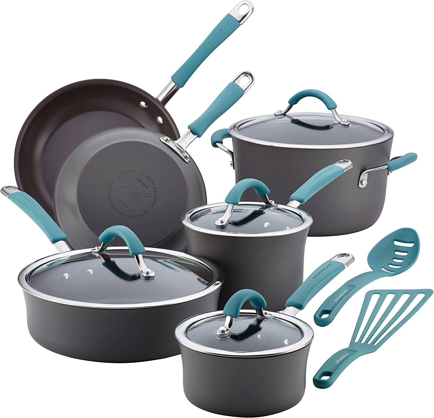 Rachael Ray Cucina 12-piece Hard Anodized Nonstick Cookware Set