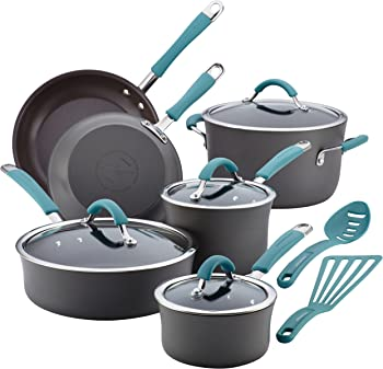 Rachel Ray 87641 Cucina Hard Anodized Nonstick 12-Piece Cookware Set