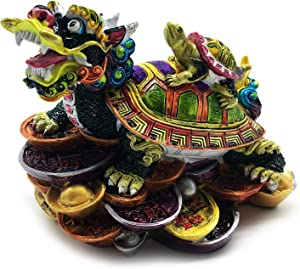 better us Chinese Feng Shui Dragon Turtle Statue Feng Shui Decor Home Office Decoration Tabletop Decor Ornaments Good Lucky Gifts