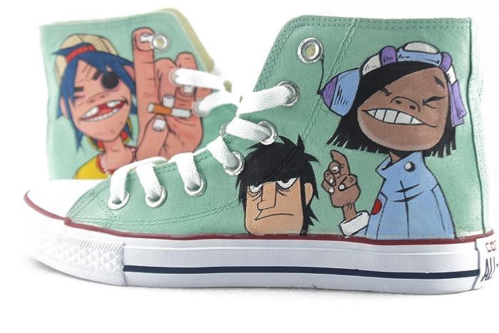 3f4b315b061e Amazon.com  Men Women Sneakers Hand Painted Canvas Shoes Original Design  Gorillaz Graffiti Shoes  Handmade