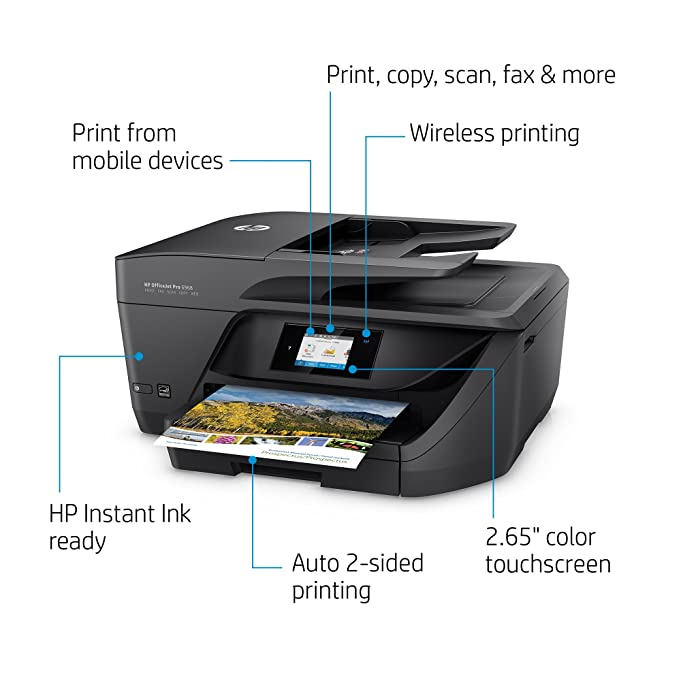 Amazon HP T0F28AB1H OfficeJet All In One Wireless Printer With Mobile Printing Instant Ink Ready OJ Pro 6968 Black Electronics