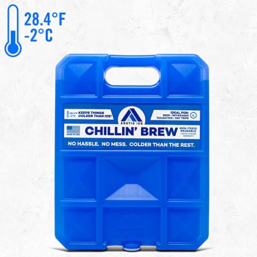 Long Lasting Ice Pack for Coolers, Camping, Fishing and More, Large Reusable Ice Pack, Chillin' Brew Series by Arctic Ice
