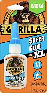 Gorilla Super Glue XL, 25 gram, Clear, (Pack of 1)