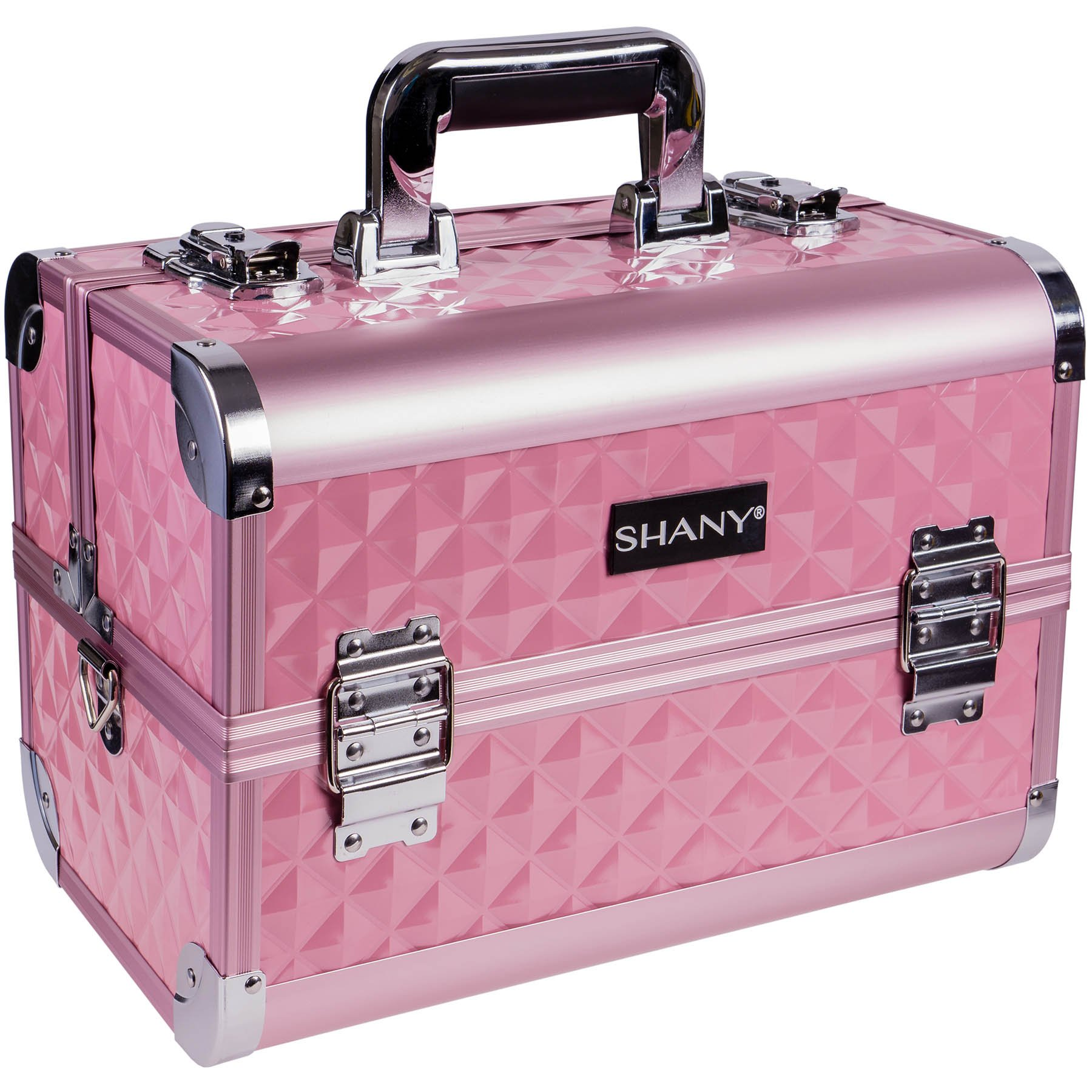 SHANY Premier Fantasy Collection Makeup Artists Cosmetics Train Case - Pink diamond
