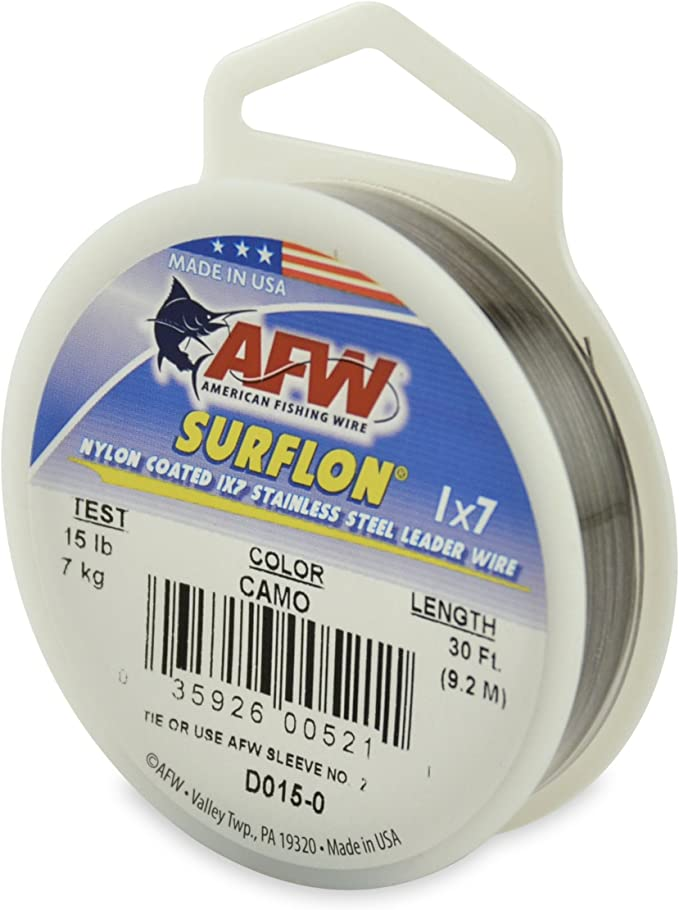 STAINLESS STEEL CLEAR WIRE LEADER 300 FEET 90 LBS 100 SLEEVES TEST 1X7 STRAND