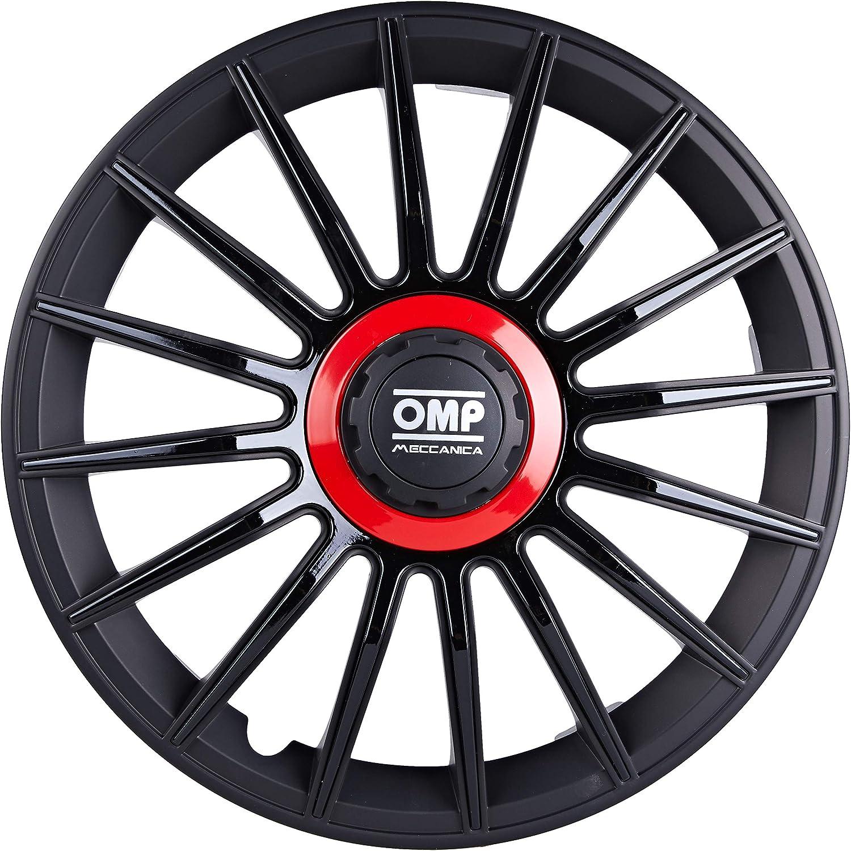 Noir//Rouge 15 OMP omp1518/enjoliveurs